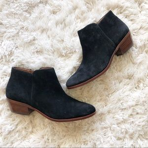 Sam Edelman | Petty Black Suede Ankle Boot Bootie